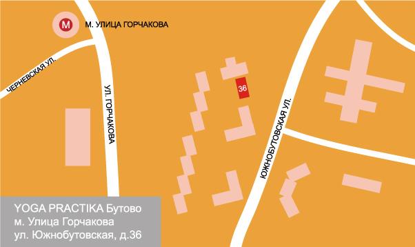 Схема проезда. YP Бутово